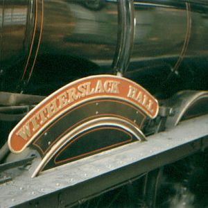 "The ""Hall Class"" Nameplate."