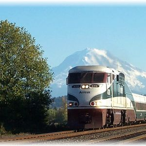 Amtrak in the valley