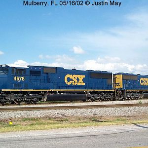 CSX SD70Ms as newly painted