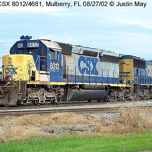 CSX 8012 and 4681