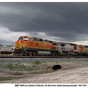 BNSF 4920 and stormy weather