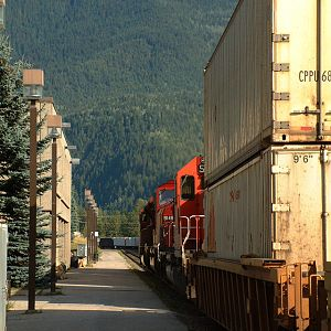 Eastbound at Revelstoke, BC