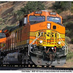 BNSF 4127  Heading towards Bealville