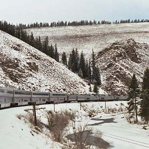 California Zephyr in Colorado Fraser Canyon