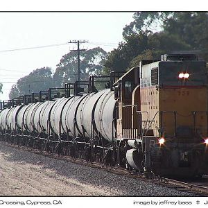 Long Hood Fwd with tank cars