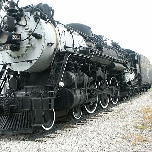 CBQ Locomotive at Burlington, Iowa
