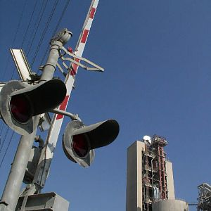 Monolith cement plant and the RR crossing signal