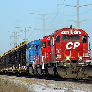 CP Eastbound Bain station road