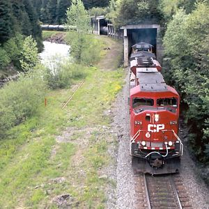 CP 9129 at Flat Creek BC