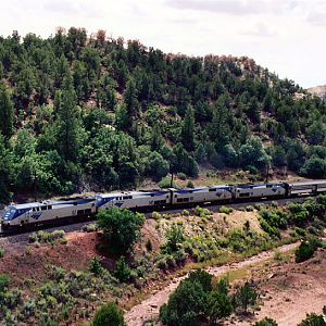 Amtrak at Glorieta