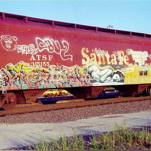 Santa Fe covered hopper