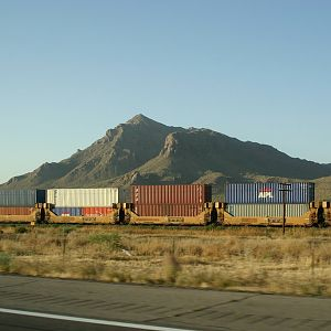 UP Stack train seen from I-10