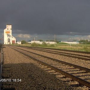 Redvers small railyard
