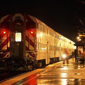 Caltrain in the rain
