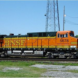 BNSF Rear End Helper On Coal Train Through Decatur