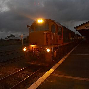 Train 627 departs Waipukurau