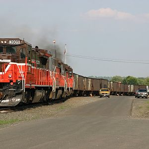P&W Coal train at West Springfield
