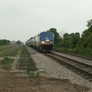 Amtrak 7 with 165 and 7