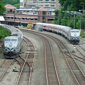 Metro-North Trains waiting in the Poughkeepsie Yard