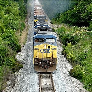 Ballast train outside of Nashville