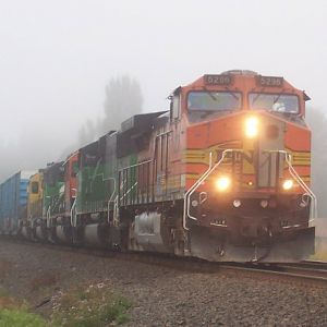 BNSF in the fog
