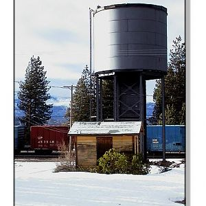 Black Butte Water Tower and SP Building