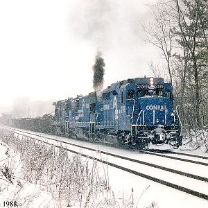 Southbound Conrail Freight
