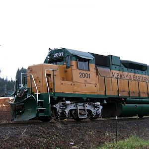 Albany Eastern 2001 at Frank Lumber Mill, Lyons OR