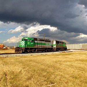 Storm Clouds Over The Rails