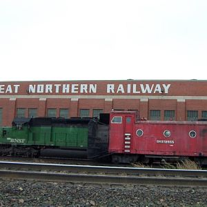 The GNRY Building, SD40-2 & the rotary snowplow