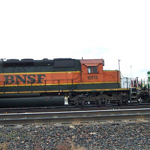 BNSF SD40-2 coupled to a Geep