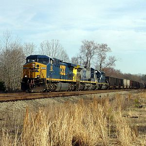 Empty NB Coal Train- Csx RF&P Sub