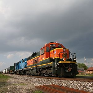 BNSF SD9 6100 at Lockport