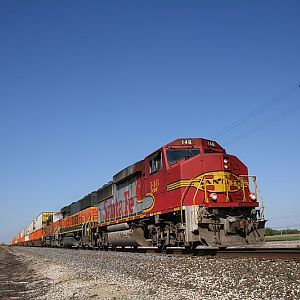 Santa Fe Warbonnet GP60M 146 at Coal City