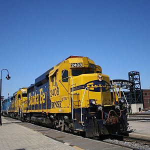Santa Fe Bluebonnet GP30 2408 at Joliet