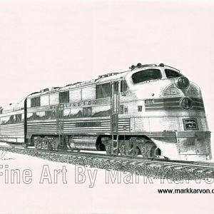 Railroad art by Mark Karvon