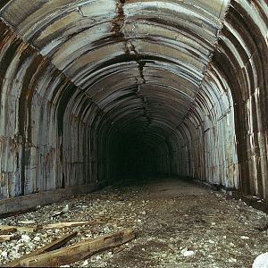 Interior shot of Windy Pt Tunnel