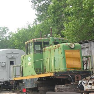 GE 40 tonner at Midland Railway, Baldwin City, Ks.