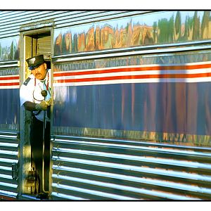 Conductor On The Southwest Chief