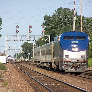 Amtrak 28 at Downers Grove