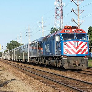 Metra 198 and Metra 403 at Downers Grove
