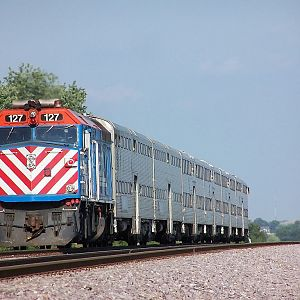 Metra 127 at La Fox