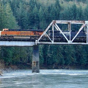 Crossing the Skykomish River #7