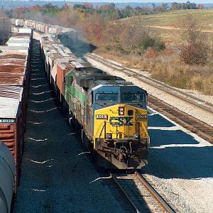 CSX 608 Entering Montgomery Yard