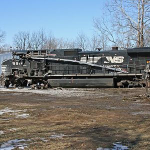 NS #9914 waits to be removed after a collision Feb 21