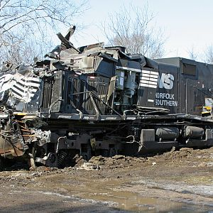 NS #9287 waits to be removed after a collision Feb 21