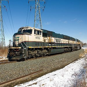 Northbound CSX N859 with BNSF power