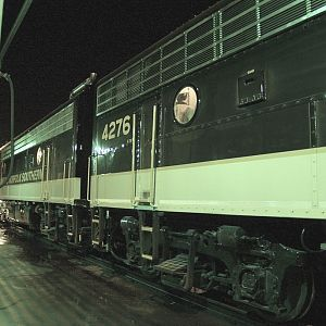 NS' F Units Inside The Cab, And Outside In The Early Morning Hours