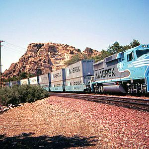 Maersk Movie Train/Victorville Narrows