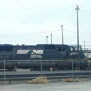 Norfolk Southern SD70M at MRL's Laurel Yard